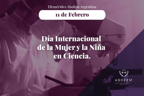Día internacional de la mujer y la niña en ciencia